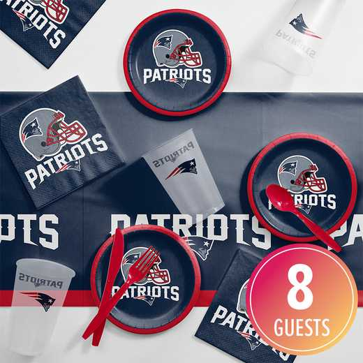 DTC9519C2B: CC New England Patriots Tailgating Kit 8 ct