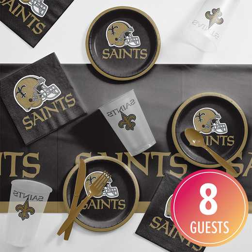 DTC9520C2B: CC New Orleans Saints Tailgating Kit 8 ct