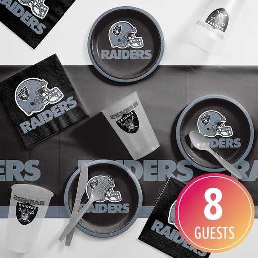DTC9523C2B: CC Oakland Raiders Tailgating Kit 8 ct