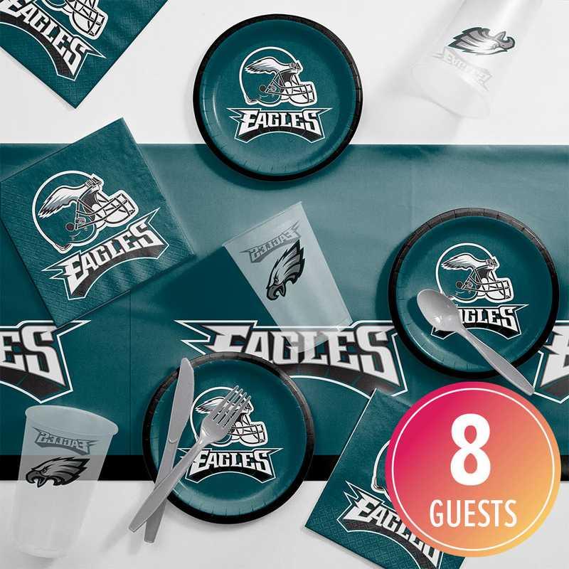DTC9524C2B: CC Philadelphia Eagles Tailgating Kit 8 ct