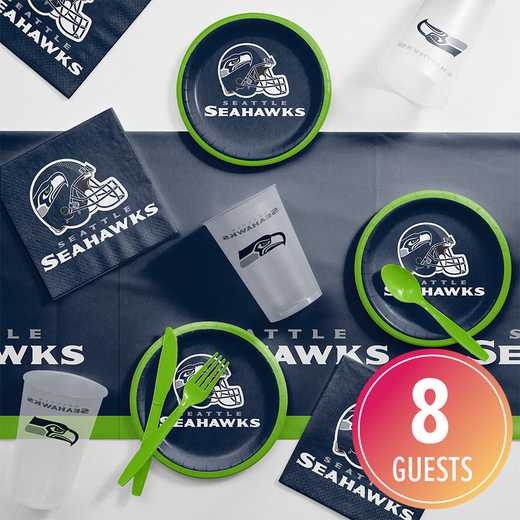 DTC9528C2B: CC Seattle Seahawks Tailgating Kit 8 ct