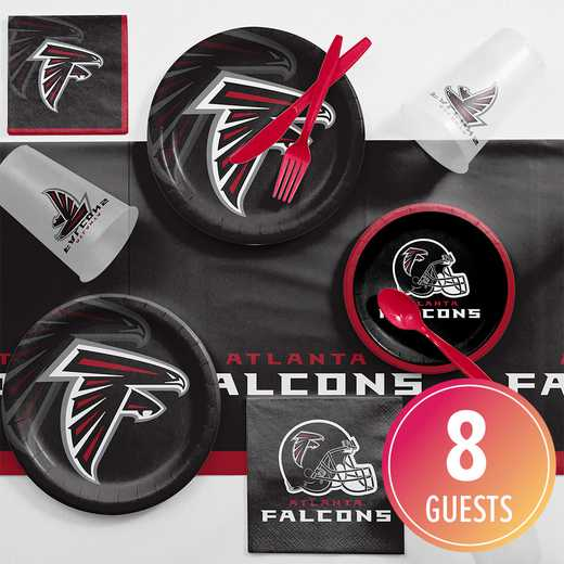 DTC9502C2A: CC Atlanta Falcons Game Day Party Supplies Kit 8ct