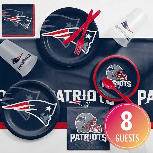 DTC9519C2A: CC New England Patriots Game Day Party Supplies Kit 8ct