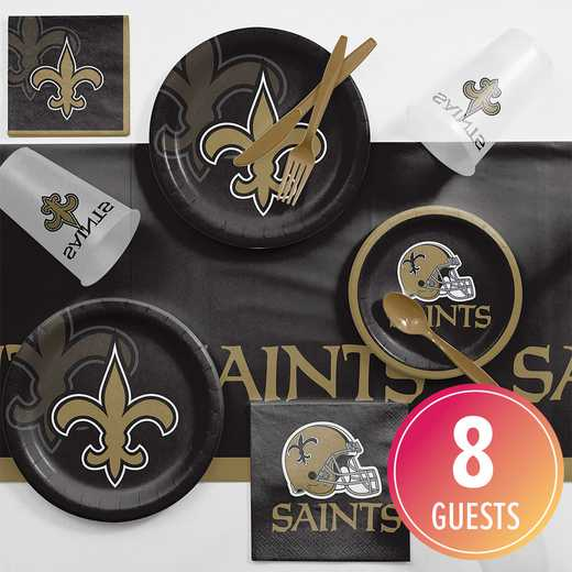 DTC9520C2A: CC New Orleans Saints Game Day Party Supplies Kit 8ct