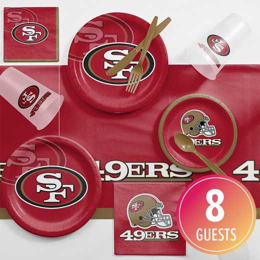DTC9527C2A: CC San Francisco 49ers Game Day Party Supplies Kit 8ct