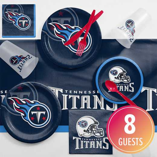 DTC9531C2A: CC Tennessee Titans Game Day Party Supplies Kit 8ct