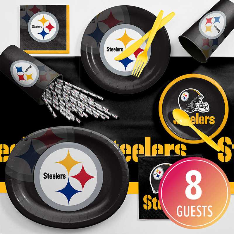 new concept 49391 33af7 Pittsburgh Steelers Ultimate Fan Party Supplies Kit