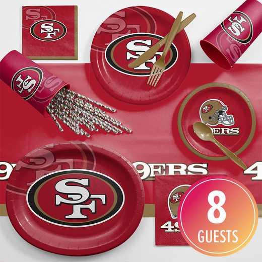 DTC9527C2C: CC San Francisco 49ers Ultimate Fan Party Supplies Kit 8ct