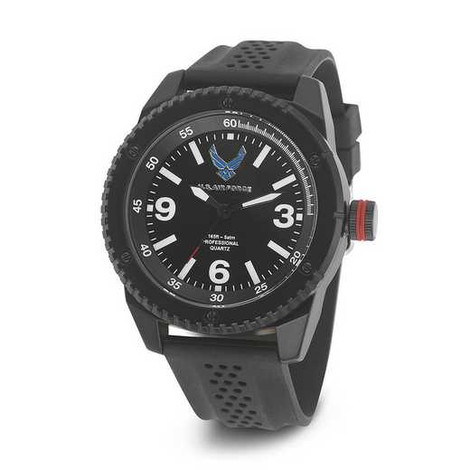 XWA4591: US Air Force Wrist Armor C20 Blk Silicone Black Dial Watch