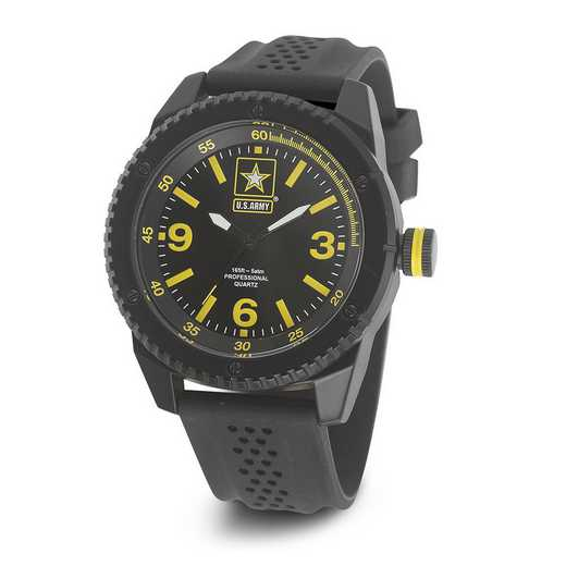 XWA4559: US Army Wrist Armor C20 Black/Yellow Watch