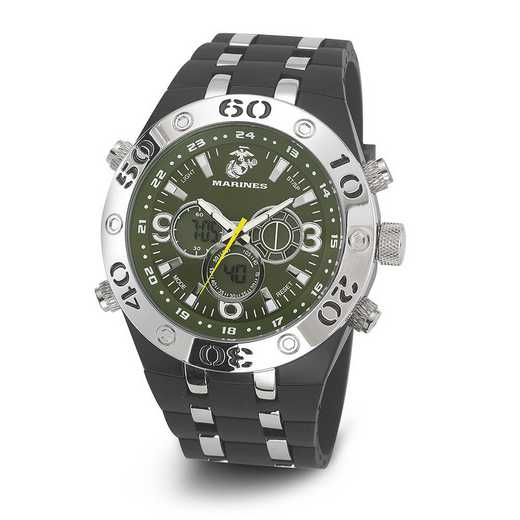 XWA4600: US Marines Wrist Armor C23 Green Dial Ana-Digital Watch
