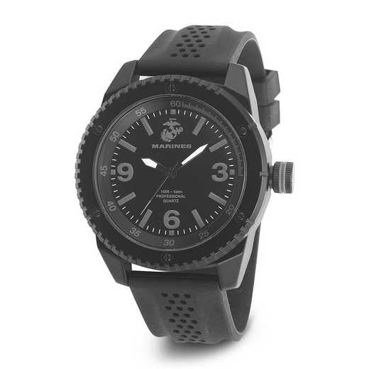 XWA4615: US Marines Wrist Armor C20 Blk Stealth Watch