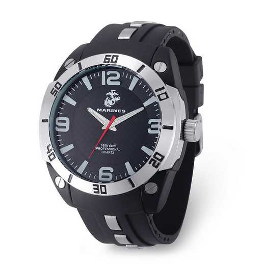 XWA6011: US Marines Armor C36 Silicone/Alloy Strap - Black Dial Watch