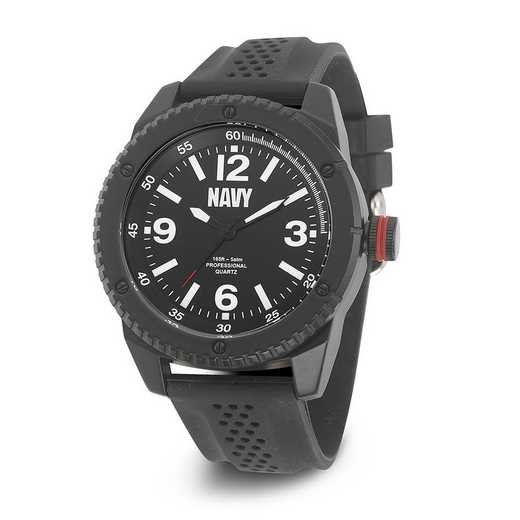 XWA4571: US Navy Wrist Armor C20 Blk Silicone Black Dial Watch