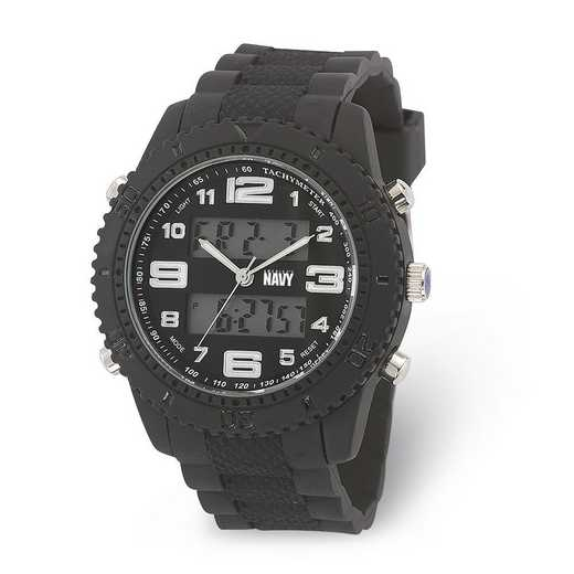 XWA6018: US Navy Wrist Armor C27 Blk Silicone Strap Ana-Digital Watch