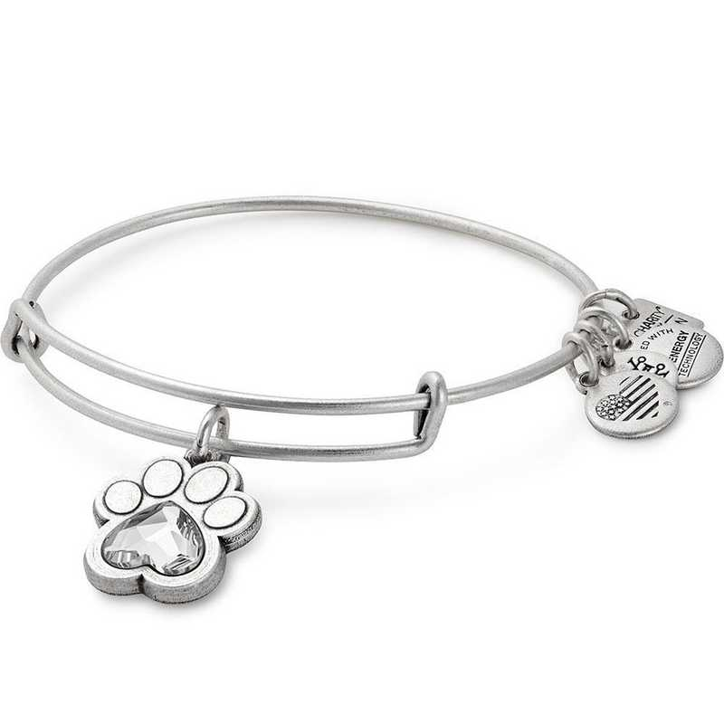 91a0262241d3ba ALEX AND ANI Prints of Love Charm Bangle - Rafaelian Silver Finish