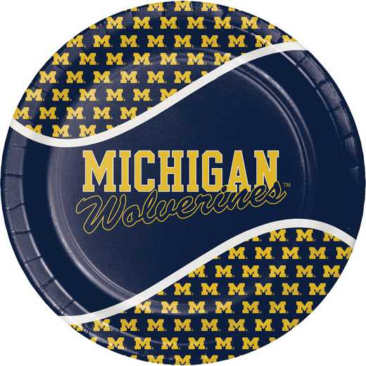 DTC331397DPLT: CC University of Michigan Paper Plates - 24 Count
