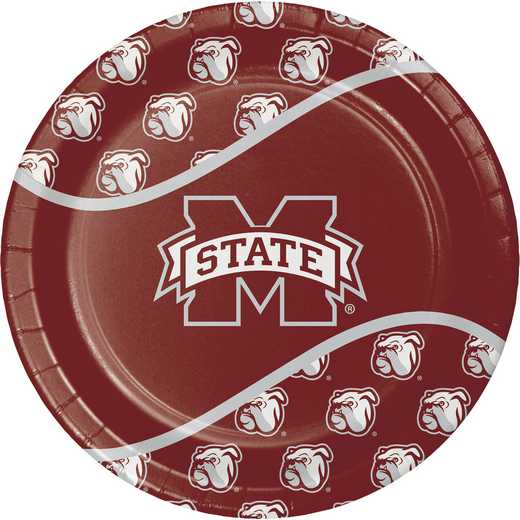 DTC424094DPLT: CC Mississippi State University Paper Plates - 24 Count