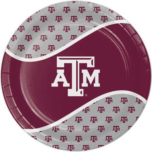 DTC424848DPLT: CC Texas A and M University Paper Plates - 24 Count