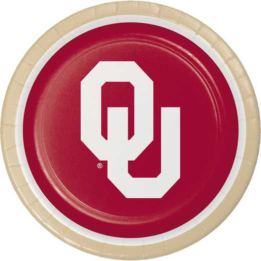 DTC429844DPLT: CC University of Oklahoma Paper Plates - 24 Count