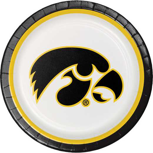 DTC429900DPLT: CC University of Iowa Paper Plates - 24 Count
