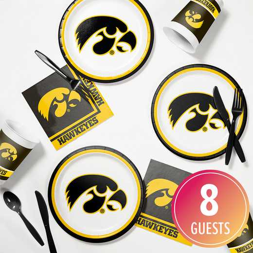 DTC4700C2B: CC University of Iowa Tailgating Kit 8ct