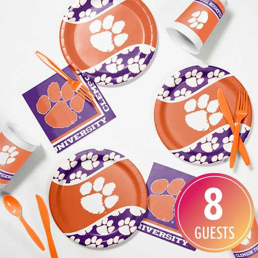 DTC4831C2B: CC Clemson University Tailgating Kit 8ct