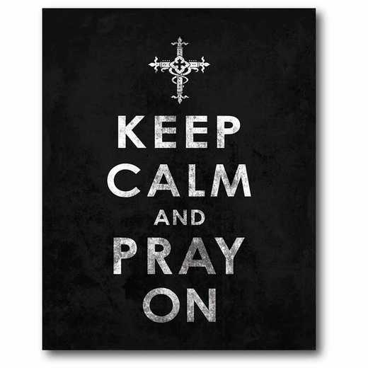 WEB-IF151-16x20: CM Keep calm and pray  Canvas  - 16x20