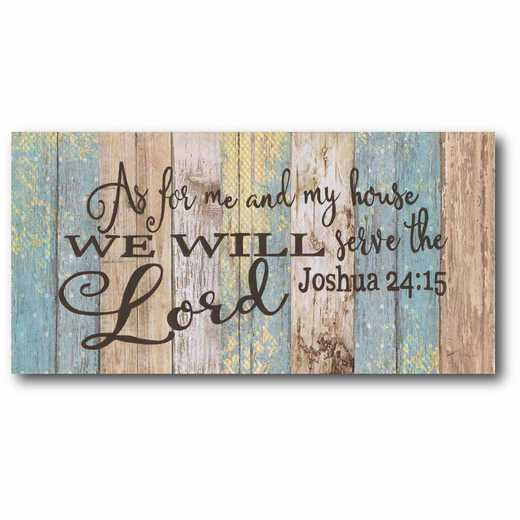 WEB-IF171-12x24: CM We Will Serve The Lord  Canvas  - 12x24