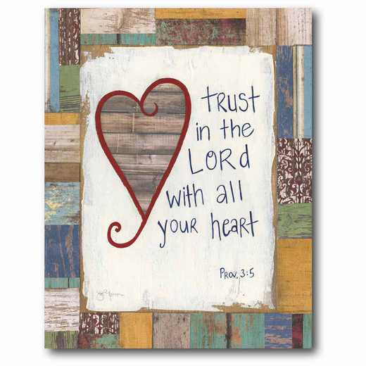 WEB-IF175-16x20: CM Trust in the Lord  Canvas  - 16x20