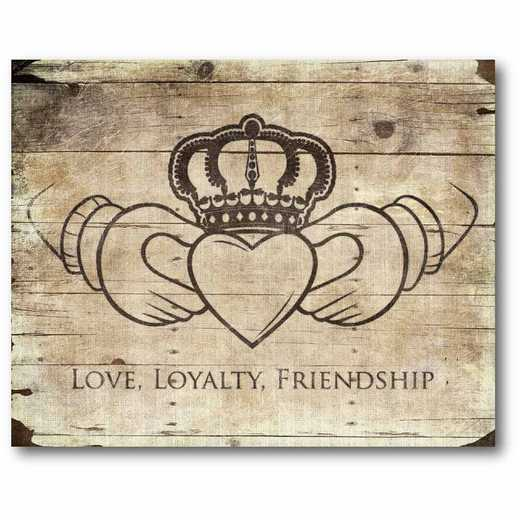 WEB-IR131-16x20: CM Love - Loyaily - Freindship  Canvas  - 16x20