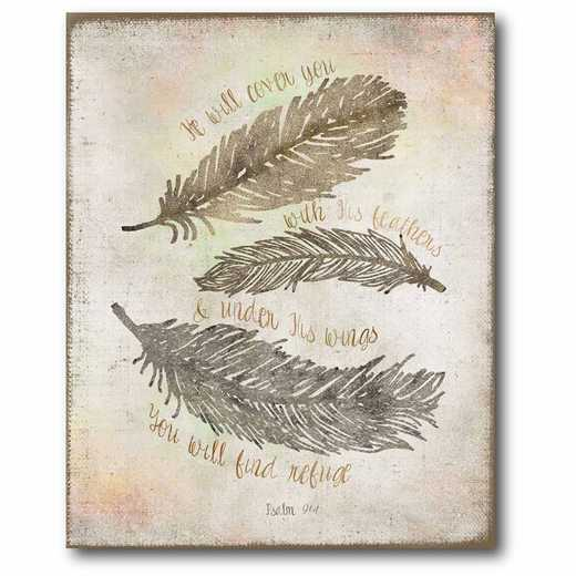 WEB-T476-16x20: CM Faith & Feather  Canvas  - 16x20