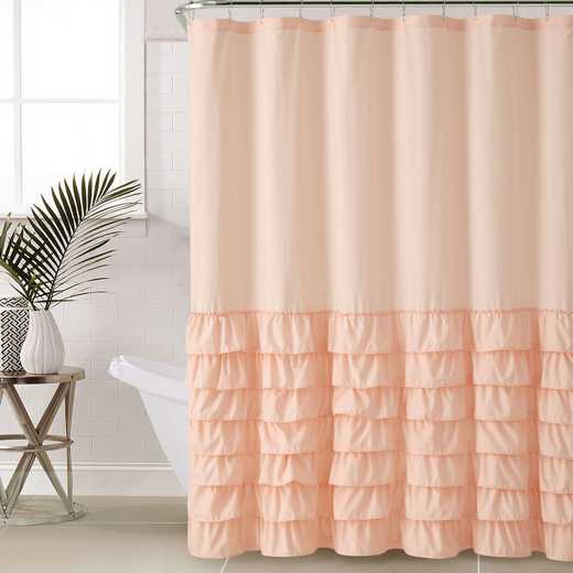 ML3-SHC-7272-IN-PINK: VCNY Pink Ruffle Shower Curtain