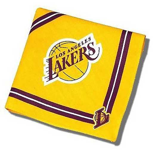 LAK-4058-M-L: LOS ANGELES LAKERS BANDANA