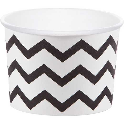 DTC051333TRT: CC Black Chevron Treat Cups