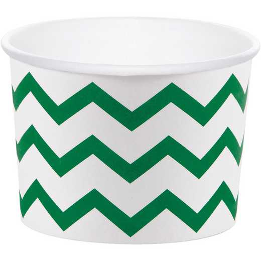 DTC051332TRT: CC Emerald Green Chevron Treat Cups