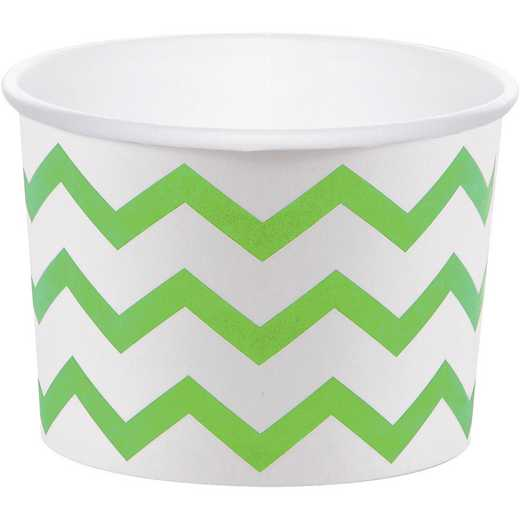 DTC051051TRT: CC Fresh Lime Green Chevron Treat Cups