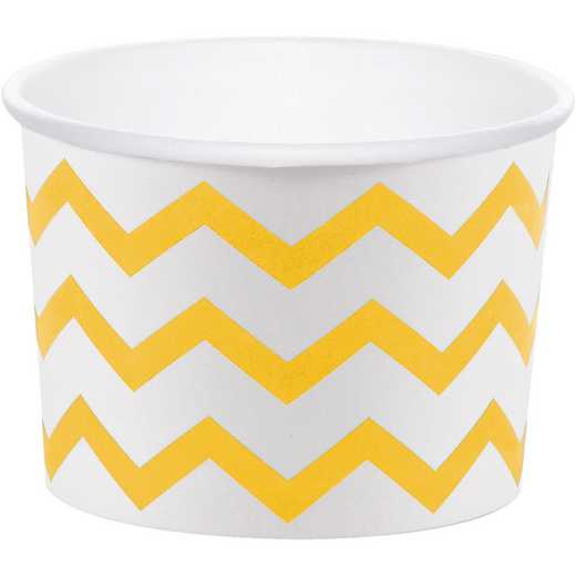 DTC324485TRT: CC School Bus Yellow Chevron Treat Cups