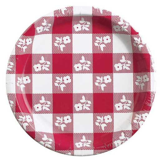DTC05886DPLT: CC Red Gingham Paper Plates