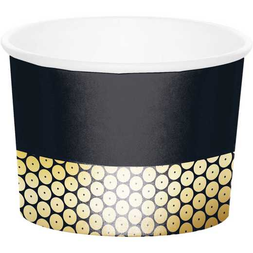 DTC339556TRT: CC Gold Sequin Treat Cups