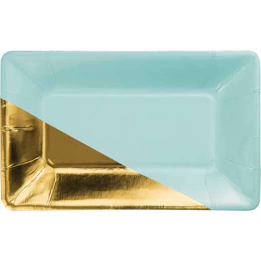 DTC329885APLT: CC Mint and Gold Foil Appetizer Plates