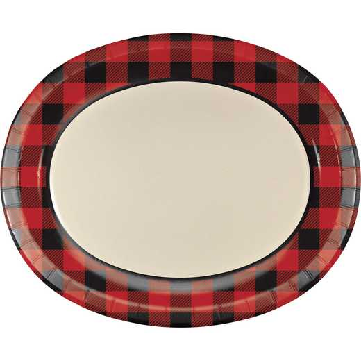 DTC323423OVAL: CC Buffalo Plaid Oval Plates