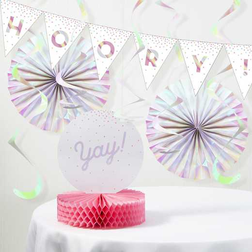 DTCGE99X1A: CC Iridescent Party Decorations Kit