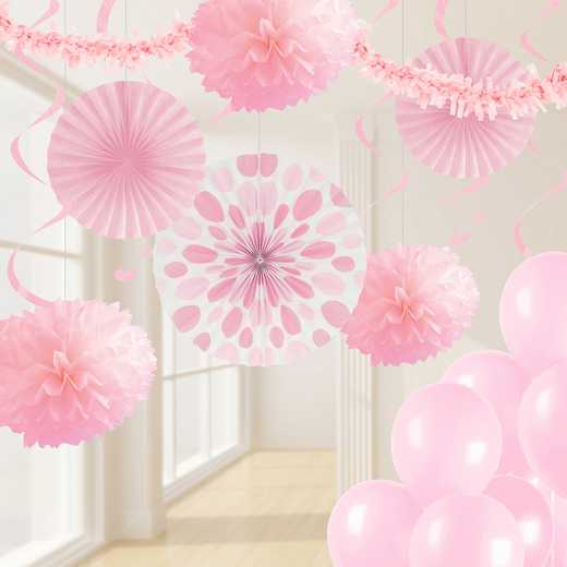 DTCCLPNK1A: CC Classic Pink Party Decorations Kit