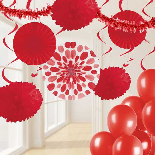 DTCCLRED1A: CC Classic Red Party Decorations Kit