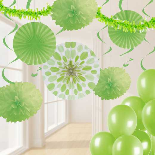 DTCFRLME1A: CC Fresh Lime Green Party Decorations Kit