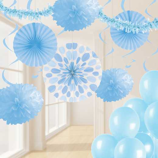 DTCPSTBL1A: CC Pastel Blue Party Decorations Kit