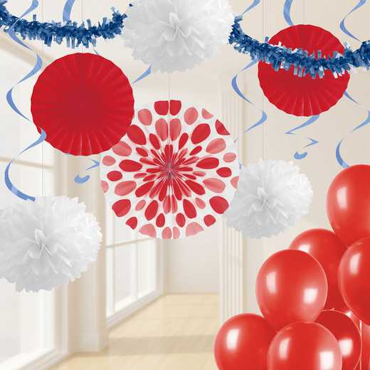 DTCRWHBL1A: CC RWB Party Decorations Kit