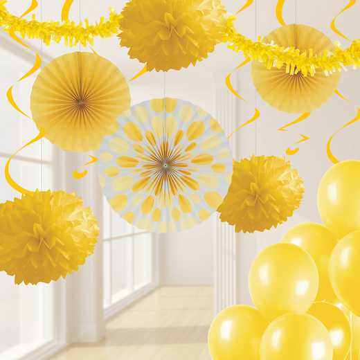DTCSBYELL1A: CC SB Yellow Party Decorations Kit