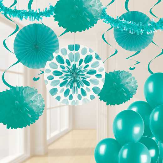 DTCTEAL1A: CC Teal Lagoon Party Decorations Kit